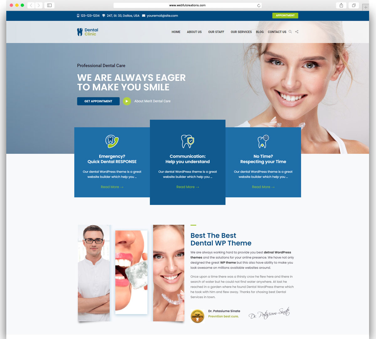 Dental Rebirth – Dentist WordPress Theme