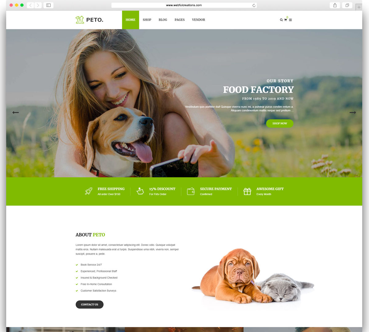 Peto   Animal and Pet Shop WooCommerce WordPress Theme
