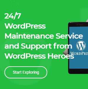 WordPress Maintenance Service Banner