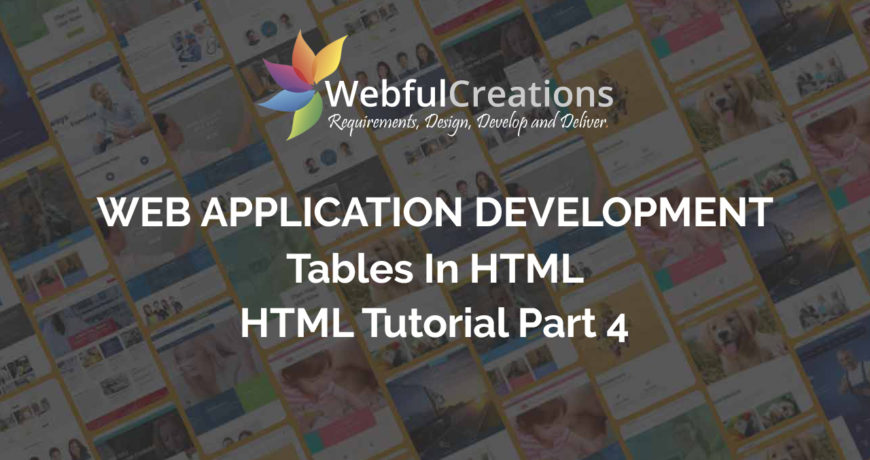 Tables in HTML - HTML Tutorial