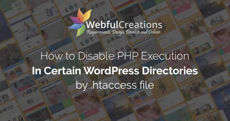 how to disable php execution in certain directories with .htaccess file
